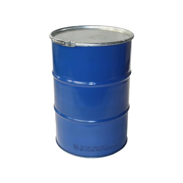 Stahldeckelbehälter 200 Liter blau